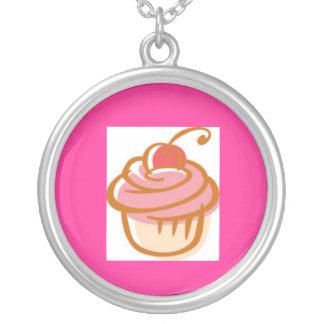 muffin-clipart silverpläterat halsband