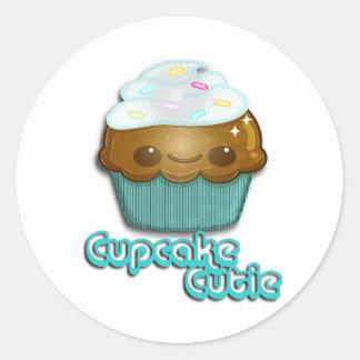 Muffin Cutie Runt Klistermärke