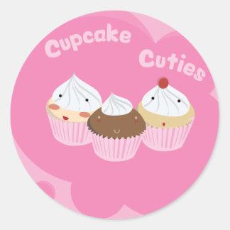 Muffin Cuties! Runt Klistermärke