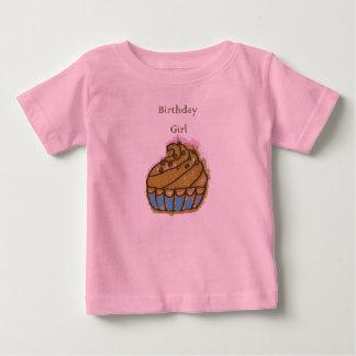 Muffin för födelsedag för födelsedagflicka 1st t shirt