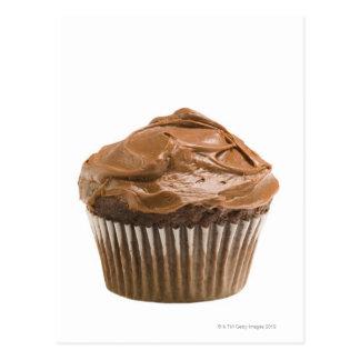 Muffin med chokladisläggning, skjuten studio vykort