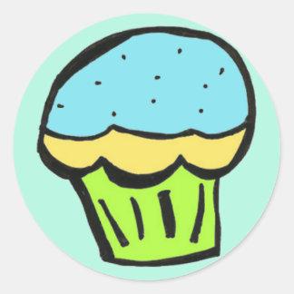 muffinblåttklistermärke runda klistermärken