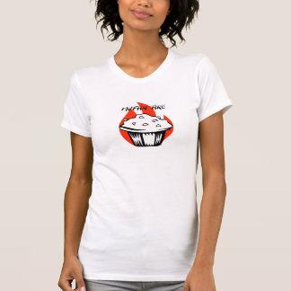 Muffinen avfyrar logotypen med text t shirt