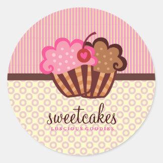Muffinen för 311 pricker den söta tårtor n-randar runt klistermärke