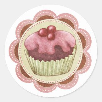 Muffinklistermärkeideal för sylt eller hem gjorde  rund klistermärke