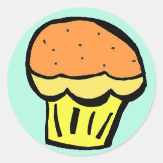 muffinorangeklistermärke runt klistermärke