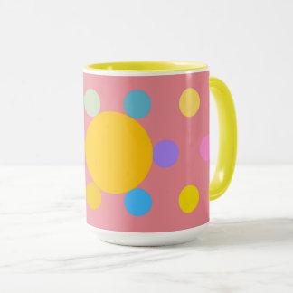 """Mug grand modèle 2 couleurs, rose, """"Fleur Pastel"""""""