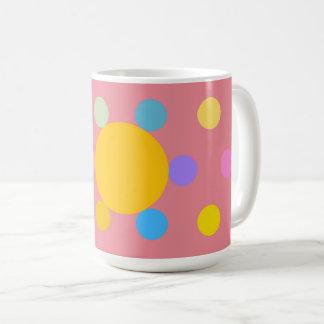 """Mug grand modèle, rose, """"Fleur stylisée Pastel"""" Vit Mugg"""