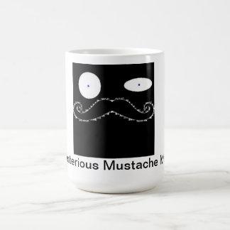 mug'en mustaschen vit mugg