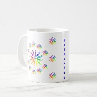 Mugg - färg rullar design med namn