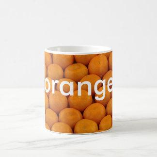 mugg: färgar den tyska orangen (orangen) kaffemugg