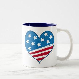 Mugg för amerikanhjärtaflagga