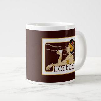 Mugg för annonsering för vintageNouveau kaffe Jumbo Mugg