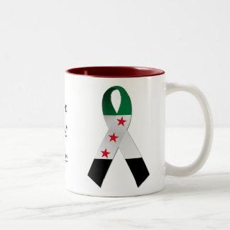 Mugg för band för medvetenhet för Syrien