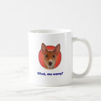 Mugg för Basenji bekymmerkaffe