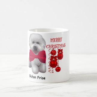 Mugg för Bichon Frise julkaffe
