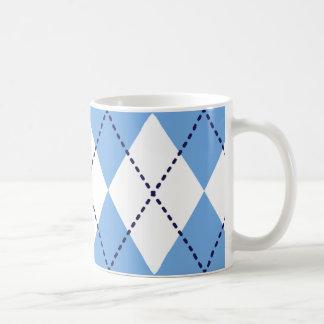 Mugg för blåttArgyle mönster