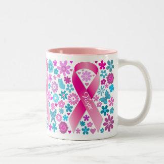 Mugg för bröstcancermedvetenhetkaffe