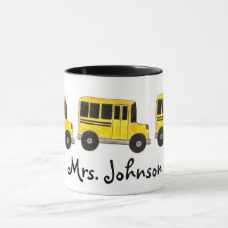Mugg för chaufför för skolbuss för