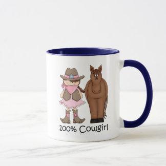 Mugg för Cowgirl 100% och häst