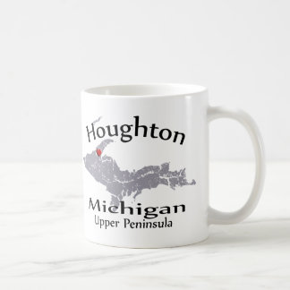 Mugg för design för Houghton Michigan hjärtakarta