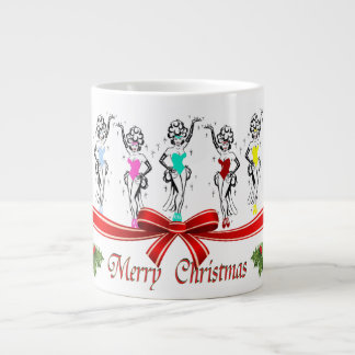 Mugg för espresso för Las Vegas julShowgirls Extra Stor Mugg