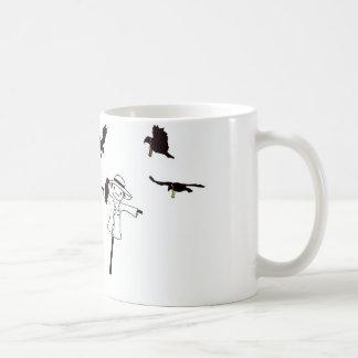 Mugg för etikettHall fågelskrämma