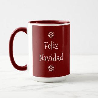 Mugg för Feliz Navidad anpassadekaffe