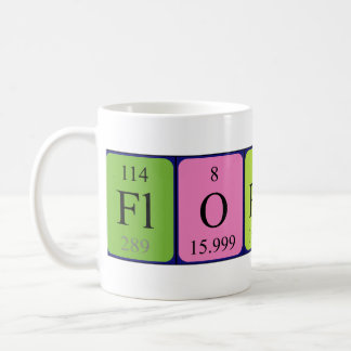 Mugg för Florence periodisk bordnamn
