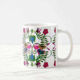 Mugg för Folk konst för Springtime botanisk