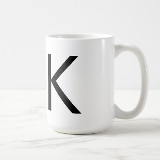 """Mugg för Futura typografi """"K"""""""