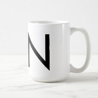 """Mugg för Futura typografi """"N"""""""