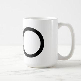 """Mugg för Futura typografi""""nolla"""""""