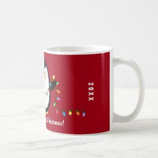 Mugg för god julljuspingvin