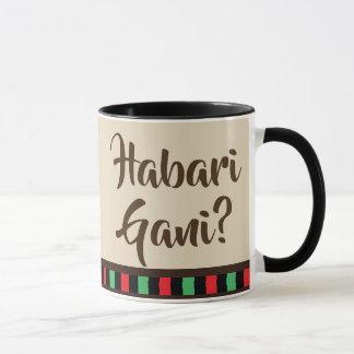 Mugg för Habari Gani - Kwanzaa objekt  