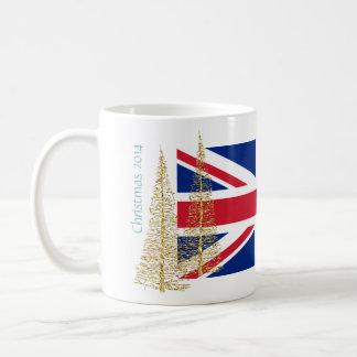 Mugg för jul för England engelskaflagga