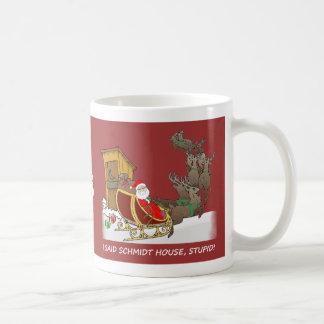Mugg för jul för Schmidt hus rolig