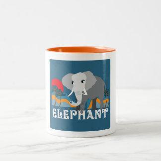 Mugg för kaffe för elefantPic-Zoo