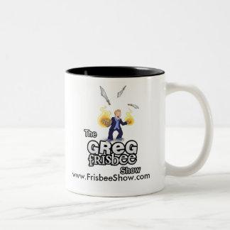 Mugg för kaffe för Greg FrisbeeShow