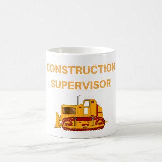 Mugg för kaffe för konstruktionsarbetsledare rolig