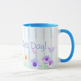 """Mugg för kaffe """"för lycklig mors dag"""" för daisy"""