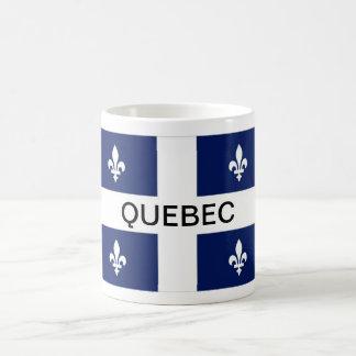 Mugg för kaffe för Quebec landskapflagga