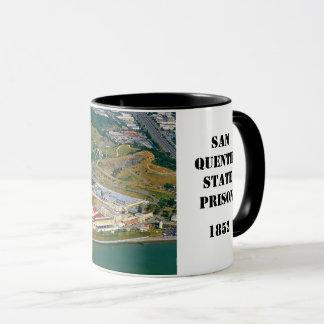 Mugg för kaffe för San Quentin fängelse bildmässig