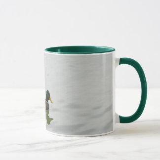 Mugg för kaffe för tre gräsandankor