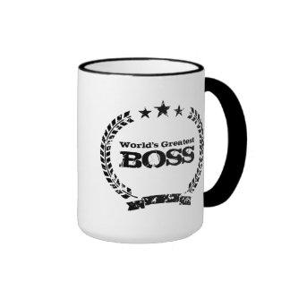 Mugg för kaffe för vintage för världsmästarechef |