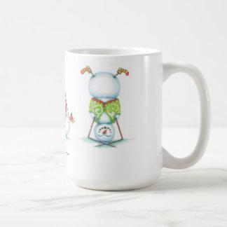 Mugg för kaffe för Yogasnögubbejul