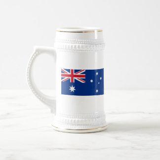 Mugg för karta för Australien flagga~
