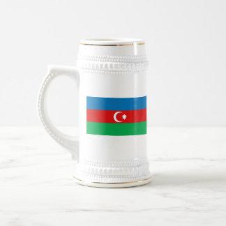 Mugg för karta för Azerbajdzjan flagga~