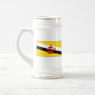 Mugg för karta för Brunei flagga~