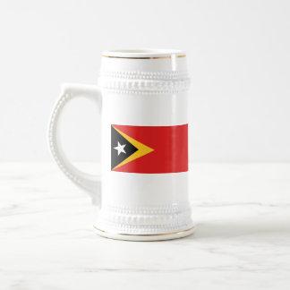 Mugg för karta för East Timor flagga~